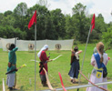 picture of archers shooting the Castle Window